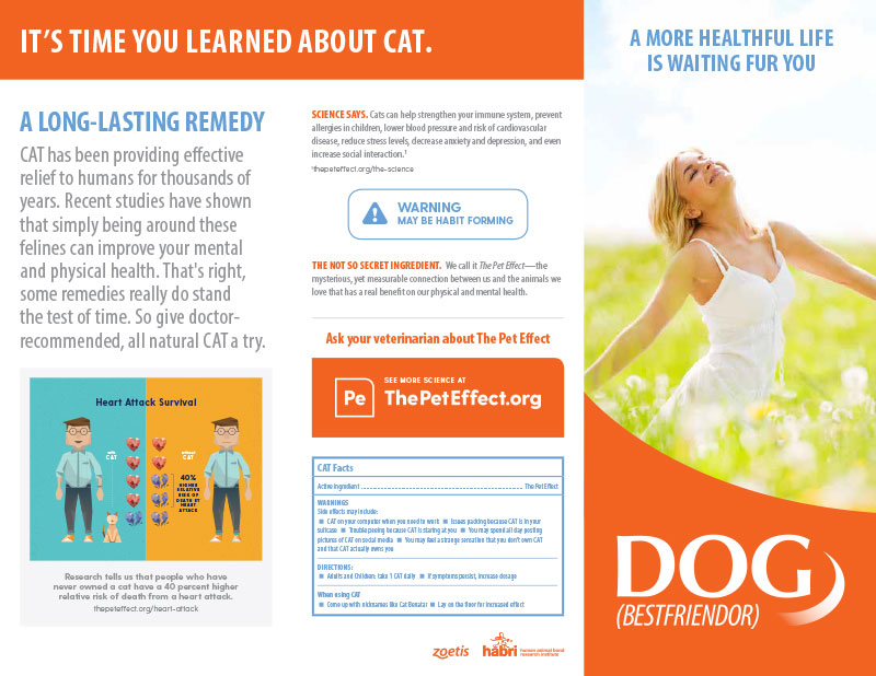 The Pet Effect Trifold Brochure